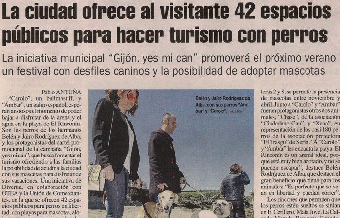 La Nueva España. Espacios públicos para hacer turismo con perros