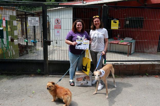 El Comercio. La perrera de Mieres recibe un cheque solidario tras una carrera en Metrópoli
